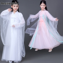 2019 ancient chinese ming costume children kid traditional opera tang dynasty han hanfu dress child clothing folk