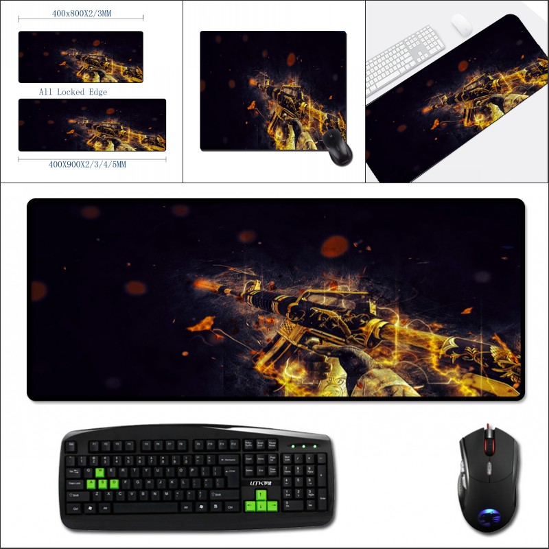 Mairuige 400x900 Big Table Mat Game Csgo Mousepad for Speed Keyboards Mat Rubber Gaming Mousepad Desk Mat for Game Player Cs Go