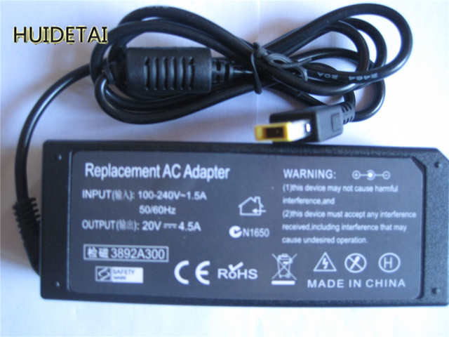 20V 4.5A 90W AC /DC Power Supply Adapter Battery Charger for  IBM Lenovo ThinkPad L440 T440s Erazer Z510
