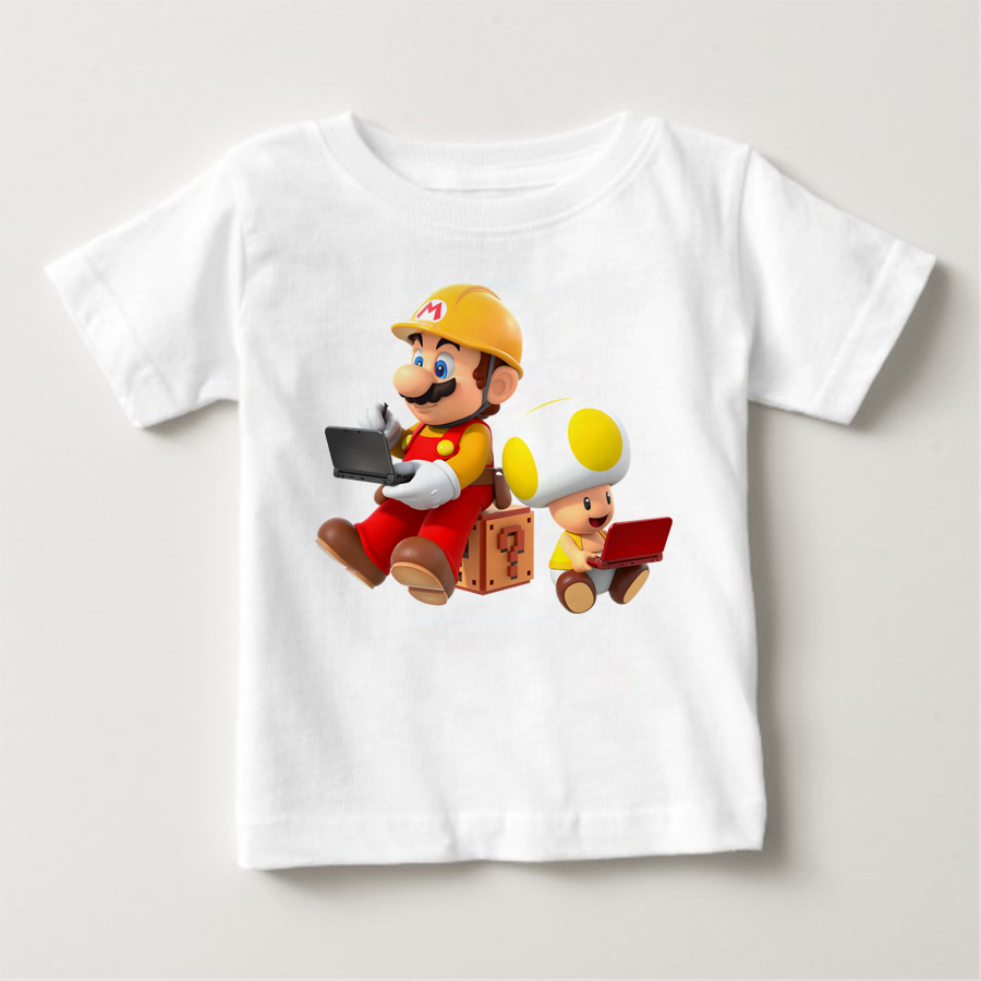 2018 hot print cartoon super Mario brothers children 39 s T shirts cute boys and girls summer fashion short sleeved garments baby t in T Shirts from Mother amp Kids