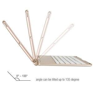 Image 4 - Беспроводной Bluetooth клавиатура из алюминиевого сплава с откидной крышкой чехол для Apple iPad 9,7 2017 2018 A1822 A1823 A1893 A1954 Air 1 5
