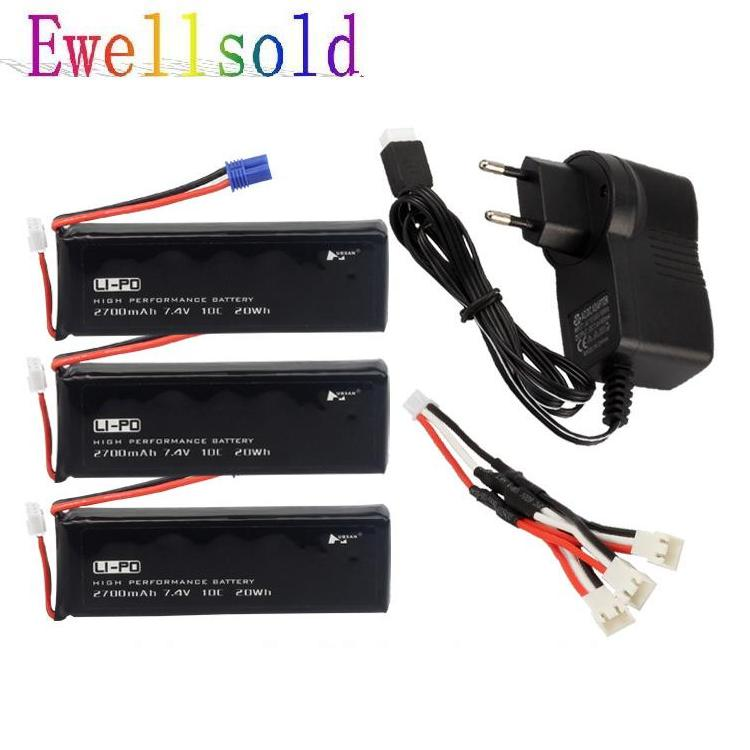 3 IN 1 Chragre line+Charger +3PCS H501S battery / H501C Battery spare parts for  H501S / H501C quadcopter for the mjx b3 helicopter 3pcs 7 4v 1800mah battery and the us regulatory charger with 1 care 3 line aircraft accessories