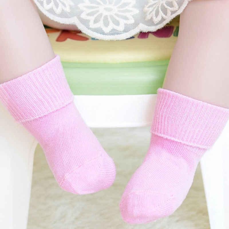 Anti Slip Baby Socks Rubbers Unisex Baby Girl&Boy Newborn Socks New Solid Color Infant Toddler Cotton Baby Sokken 0~6Y Kids Soft
