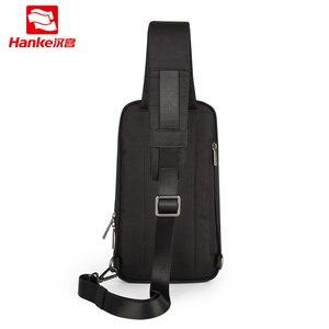 Image 2 - Hanke novos homens crossbody sacos do mensageiro escola masculino estilingue sacos de peito para o trabalho resistente à água viagem cruz cintura ombro saco