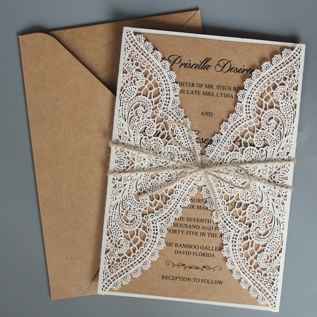 Where To Buy Wedding Invitation Paper: Rustic Wedding Invitations Suite Kraft Paper Invitation