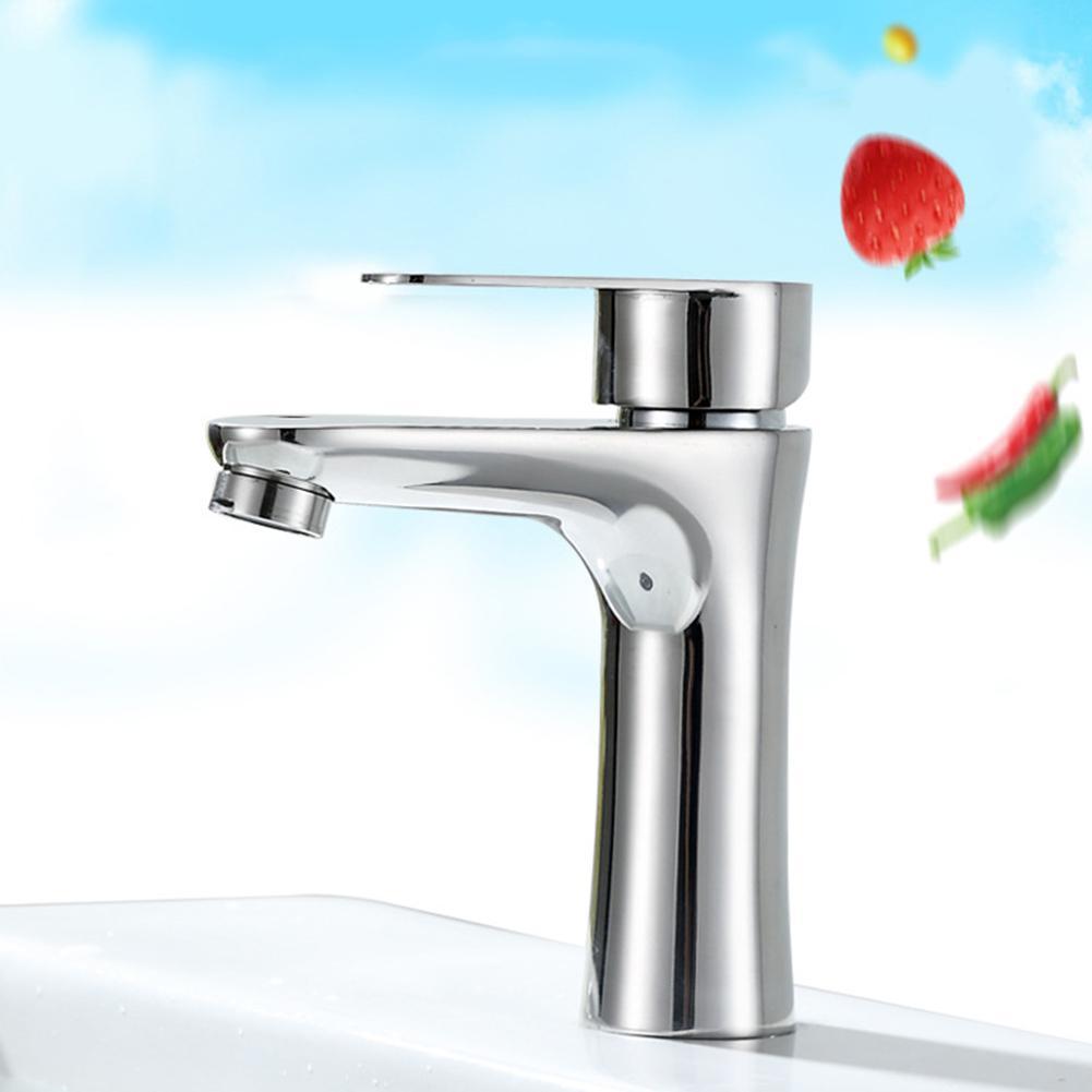 Robinet de lavabo en acier inoxydable robinet cascade robinet mitigeur monté sur le pont de la salle de bain
