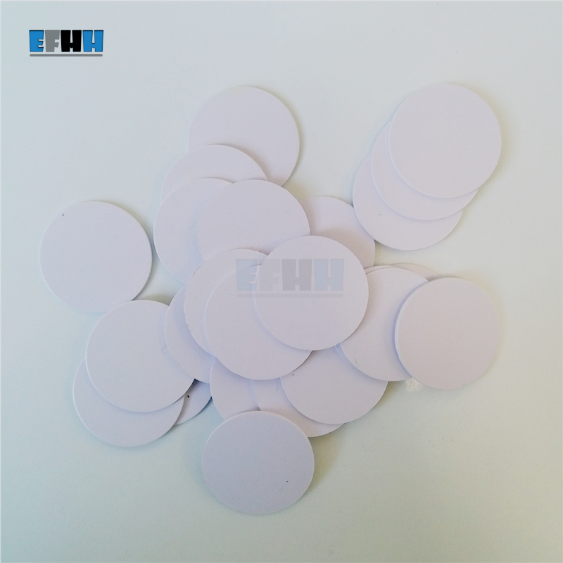 125KHZ TK4100/EM4100 Diameter 25mm RFID Coin Card Read Only ID Card Access Control Card