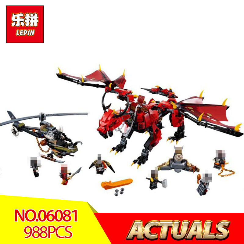 цена 2018 Lepin 06081 Ninjago Firstbourne Blocks Bricks Compatible Legoing 70653 Model Building Educational Boy Toys Gifts Assembled