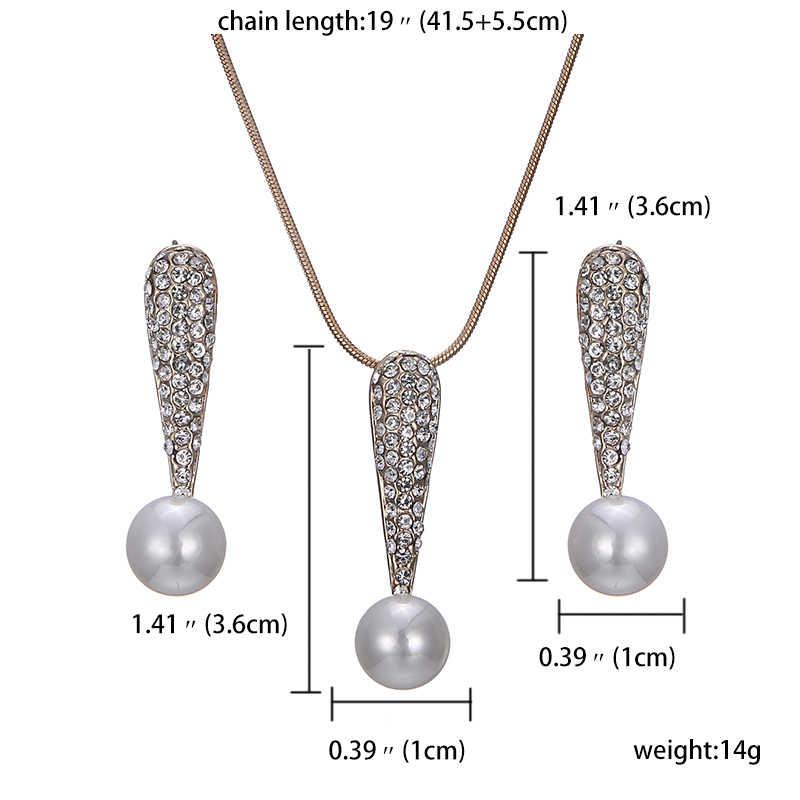 Charme Halskette Und Ohrringe Set Nette Silber Farbe Geschenk Für Frauen Mode Braut Hochzeit Schmuck Sets Drop Shipping