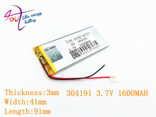 SD XWD 304191P 3.7V KEBE PL304191 304192 PL304190 1600MAH LI- ION POLYMER battery for china clone S6 S9600 MTK phone