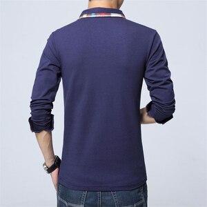 Image 3 - ARCSINX Polo Shirt Men Plus Size 5XL 4XL 3XL  XXL Spring Long Sleeve Polo Men Polo Shirt Autumn Cotton Winter Casual Mens Polos