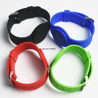 100pcs 13.56Mhz UID Changeable MF 1K S50 NFC Bracelet RFID Wristband Chinese Magic Card Back Door Rewritable S50 Card