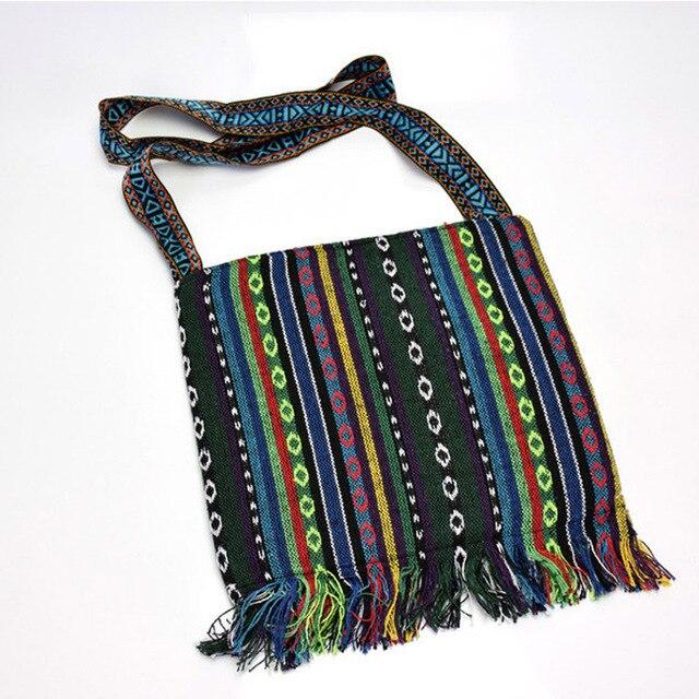 Women's Tibetan Style Embroidered Messenger Bag 3