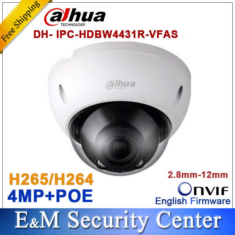 Здесь продается  Dahua 4MP IP IPC-HDBW4431R-VFAS IP 2.8mm ~12mm VF lens camera Support Audio POE H265&H264 IR DH-IPC-HDBW4431R-VFAS  Безопасность и защита