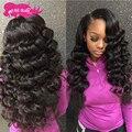 Annabelle Hair Peruvian Loose Wave Virgin Hair 4 Bundles 8A Grade Virgin Unprocessed Human Hair Bundles Peruvian Loose Wave