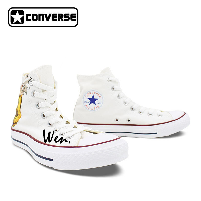 72ec01e06f3069 Men women converse chuck taylor white canvas shoes anime soul eater design  hand painted high top sneakers christmas gifts