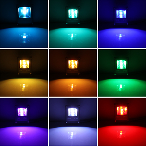 Image 3 - Bãi Cỏ Lũ 10W RGB Bãi Cỏ Đèn Pha Đèn Điều Khiển Từ Xa Chống Nước Sân Vườn Kênh Đèn AC 85 245V