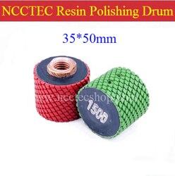 1.4 NCCTEC Diamond RESIN buffing polishing drum wheels 014PD1 | 35*50mm DRUM-TYPE polish pad | FREE fast shipping