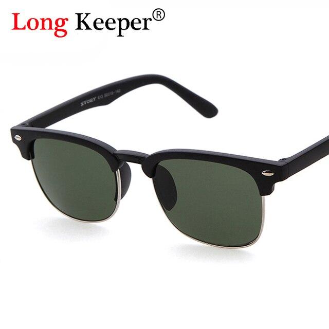 Long keeper cool semi óculos sem aro marca designe óculos de sol das  mulheres óculos de a534b455d8
