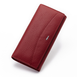 Image 5 - MELOVO wyjątkowa wyprzedaż!! 100% portfel z prawdziwej skóry wołowej portfele damskie sprzęgła długa torebka designerska torebka JL18