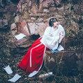 2016 зимние горячих женщин древней династии тан императрица платье традиционный hanfu косплей одежда женская китайский древний костюм красный
