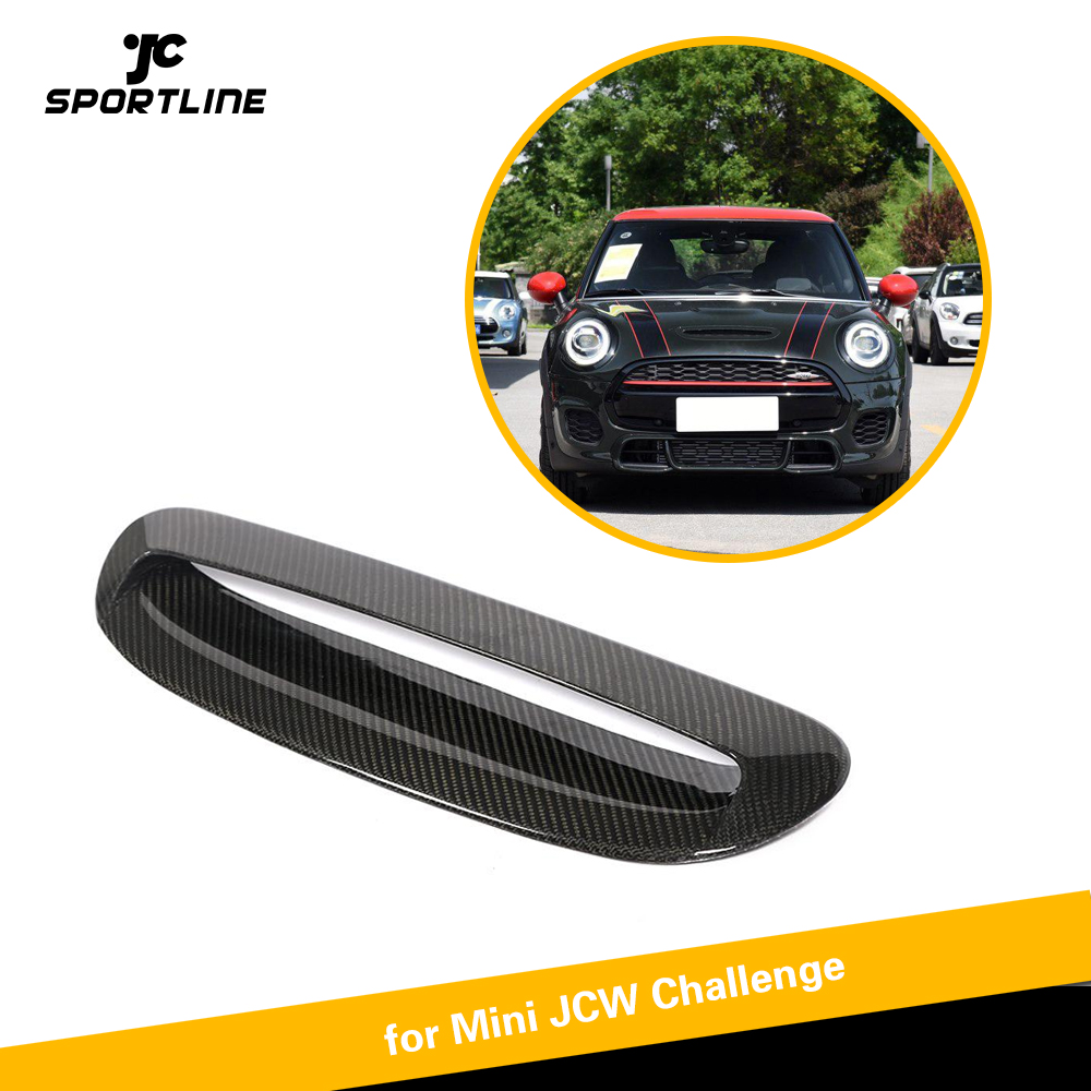 Carbon Fiber Hood Bonnet Air Vents Front Grill for MINI JCW 2014 2018 Add on Style Frame Trim