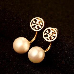 Brand Luxury Fashion Channel Cc Tt Gold Earrings Letter Pearl Stud Earring Back Hang Fine Jewelry
