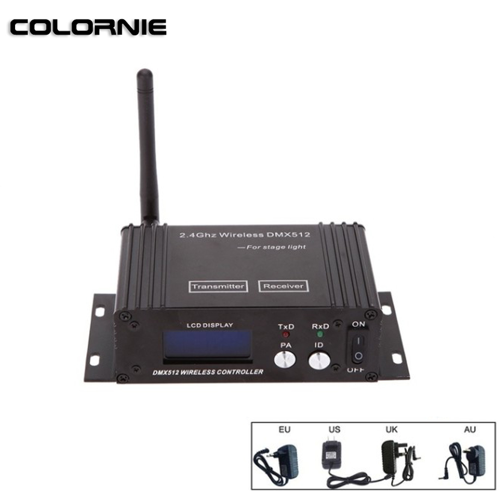 Wireless DMX Controller Professional Light Controller Wireless Transmitter  Receiver 2in1 LCD Display