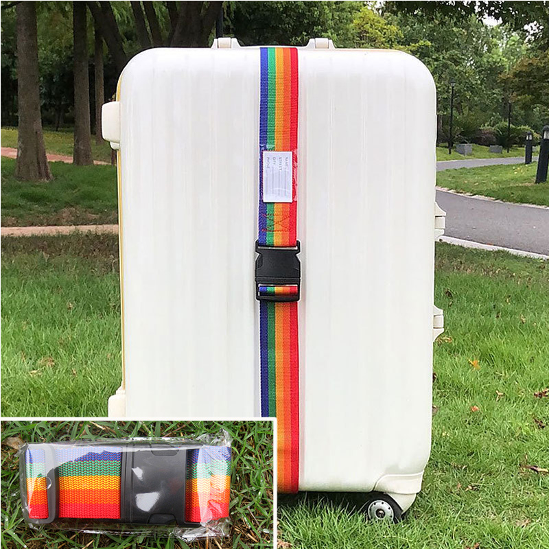 Adjustable Travel Luggage straps Password-less PVC Suitcase Belts for Travel Bag Accessories For Outdoor Camping Luggages Box