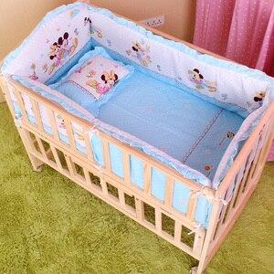 Image 5 - 5 шт. набор постельных принадлежностей для детской кроватки, Детский Комплект постельного белья 100x60 см, комплект детской кроватки, бампер для детской кроватки, бампер для детской кроватки CP01