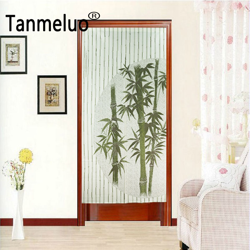 85*175CM Decorative Japanese Bamboo Kitchen Door Curtains Window Curtains Fabrics Kitchen Ready Made Curtains Doors