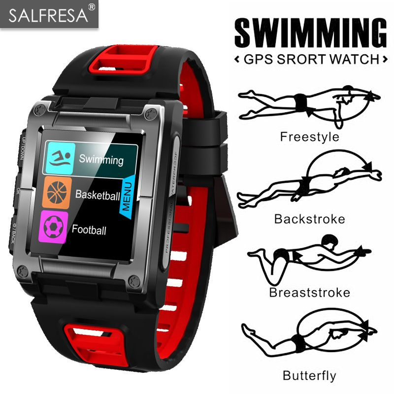GPS Sport IP68 Waterproof Swimming SALFRESA S929 Smart Watch Heart Rate Monitor Thermometer Altimeter Color Screen Smartwatches