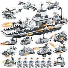 hot deal buy 419pcs blocks armed united fleet 6 in 1 set building blocks all 19 patterns self locking bricks toy for children