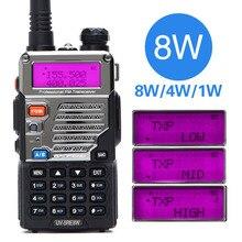 BaoFeng UV 5RE 8 W Walkie Talkie 10 km Dual Band UV5R วิทยุ VOX ไฟฉายมือถือยาวแบบพกพา ham วิทยุล่าสัตว์