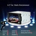 "Kkmoon 6.2 ""universal 2 din hd stereo car dvd/usb/sd jogador gps bluetooth navegação multimídia af/fm radio entretenimento"