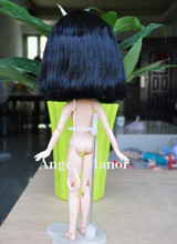 Free shipping, hair for Blyth doll with scalp, black  short hair,  For Girl's Gift