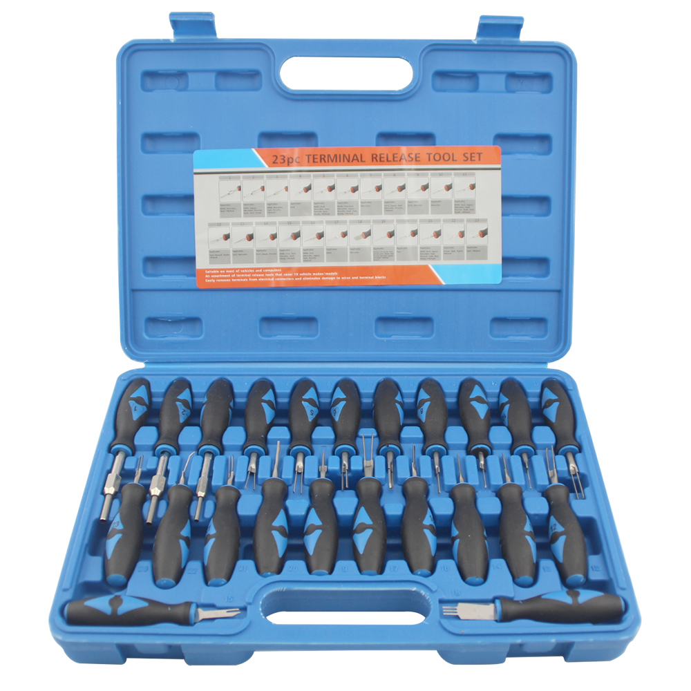 23Pcs/Set Universal Automotive Terminal Release Removal Remover Tool Kit Car Electrical Wiring Crimp Connector Pin Extractor Kit