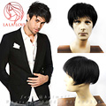 All Hand tied mens hair toupee Human real hair replacement systems men toupee thin skin toupee hair integration undetectable wig