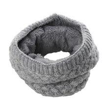 Модный Зимний вязаный шарф унисекс для женщин, мужчин, детей, детей, плотный шерстяной шарф с воротником, хлопковый шарф для мальчиков и девочек