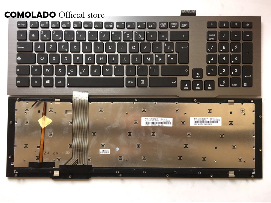 Clavier français FR pour ASUS G75VW G75VX G75VM US avec disposition clavier rétroéclairé FR
