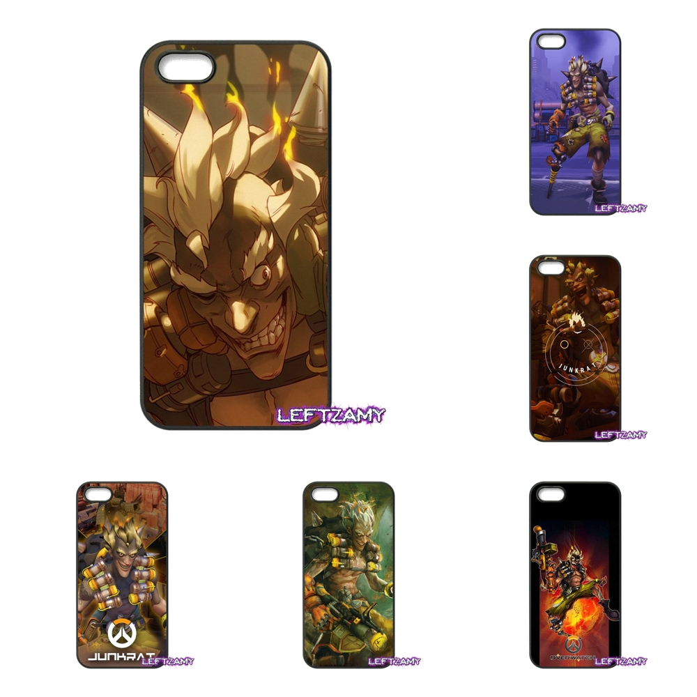 OVERWATCH Junkrat Art Poster Hard Phone Case Cover For iPhone 4 4S 5 5C SE 6 6S 7 8 Plus X 4.7 5.5 iPod Touch 4 5 6
