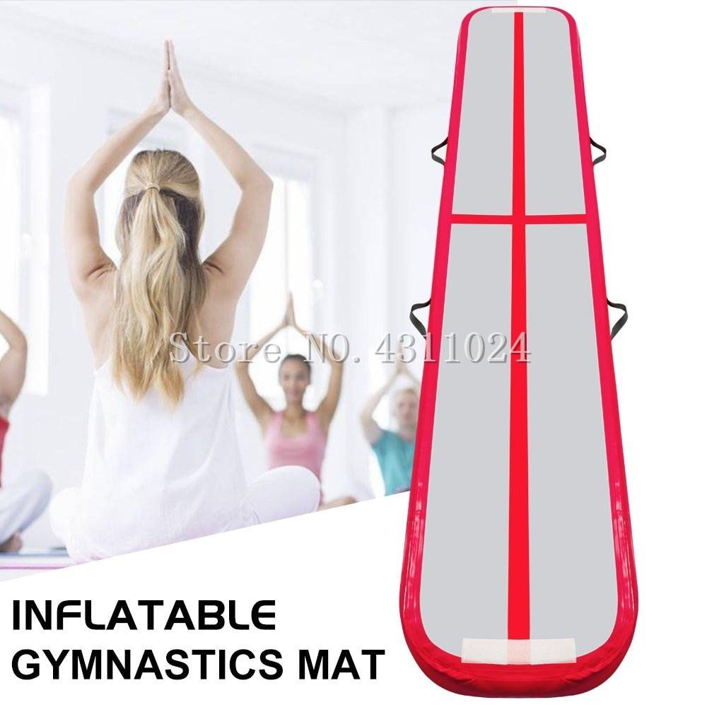 Gymnastics Air Balance Beam inflatable Practice Training Mat Red Inflatable Gym Mat Air Track Tumbling Air Floor Mat 3x0.5x0.1m