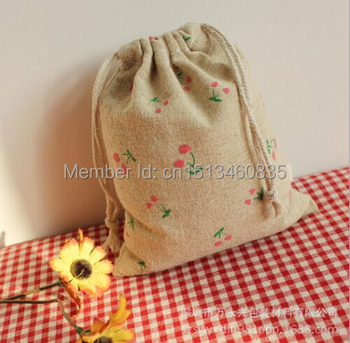 100pcs/lot CBRL  jute bags, jute pouch, linen pouch for toiletry/corns,Various colors,size customized,wholesale