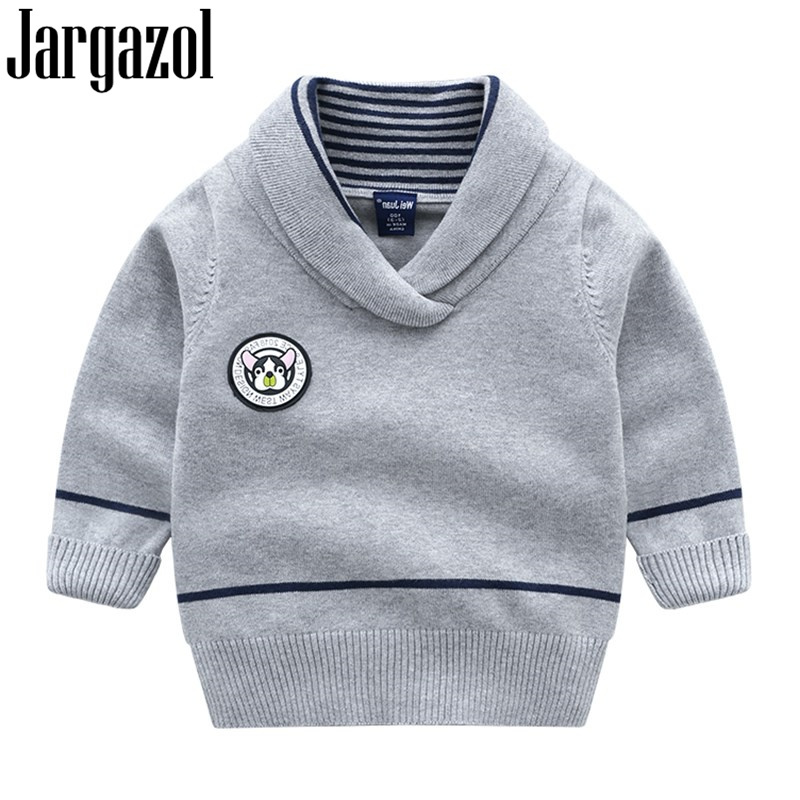 4e393607a Jargazol Toddler Girls Sweaters Cartoon Dog Letter Badge Baby Boy ...