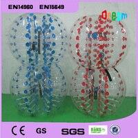 Free Shipping 1.2m PVC Human Bubble Ball For Kids Soccer Bubble Ball Inflatable Bubble Football Air Bumper Ball Body Zorb Ball