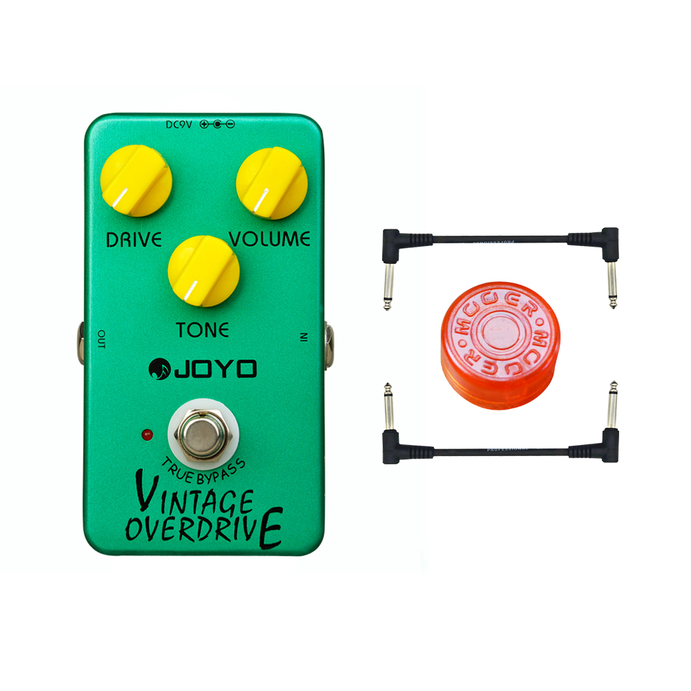 JOYO JF-01 vintage overdrive guitar effect pedal by True Bypass for Classic Tube-screamer free shipping free cable joyo ironman at drive overdrive electric guitar effect pedal true bypass jf 305 with free 3m cable