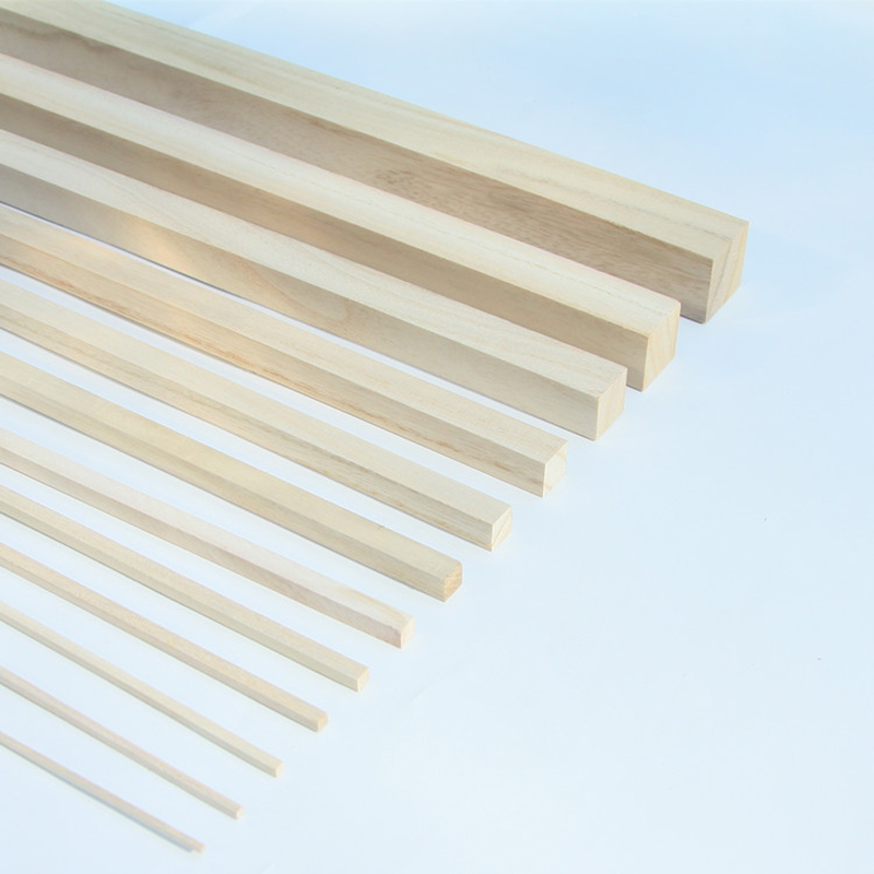 30pcs 2 to 30mm x33cm square wooden sticks Paulownia Pine rods/DIY toy accessories/Kids Ha