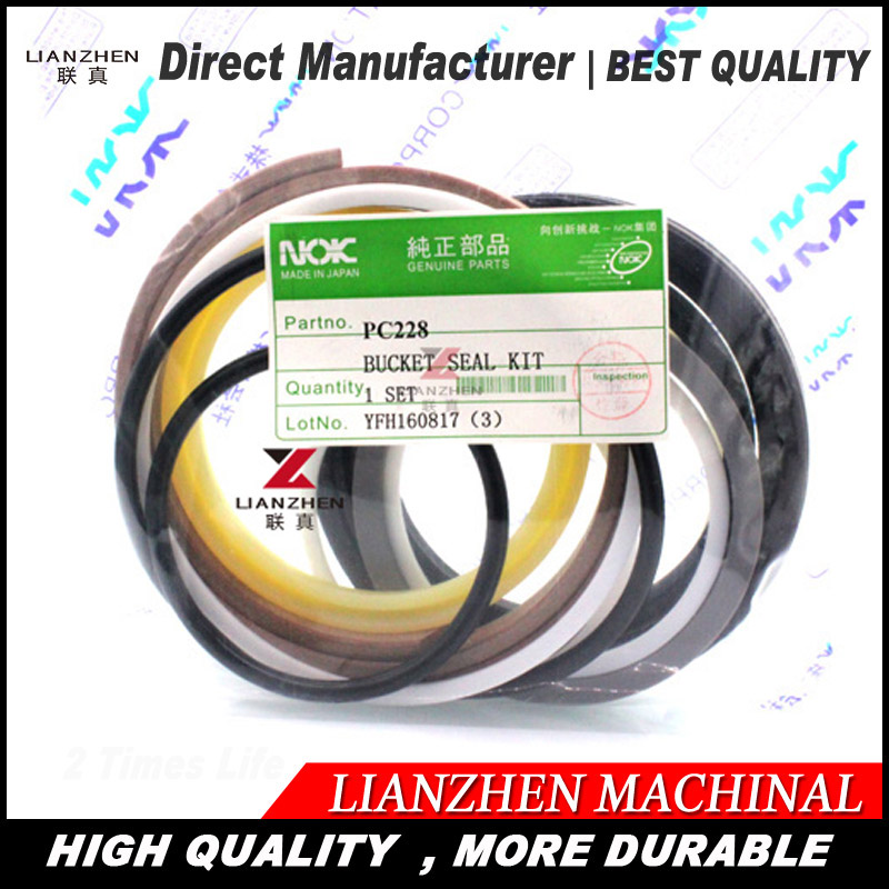 High quality excavator seal kit for Komatsu PC228 bucket cylinder repair seal kit 707-39-52750 high quality excavator seal kit for komatsu pc100 6 bucket cylinder repair seal kit 707 98 27600