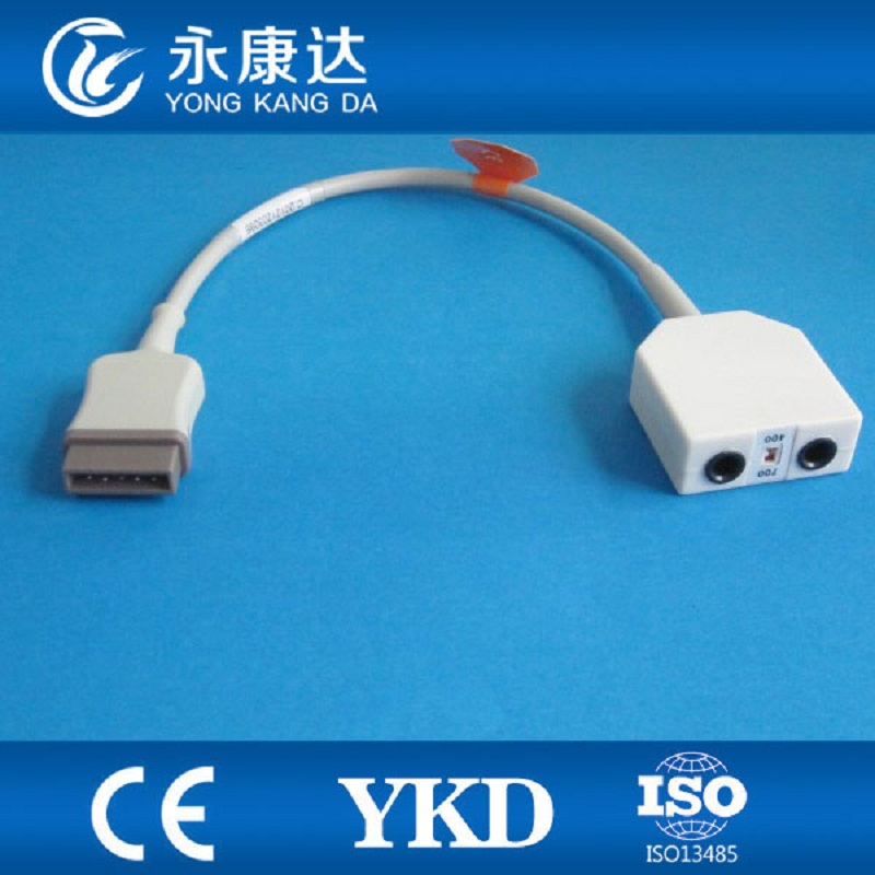 GE 11pin temperature adapter cable,compatible with YSI400 and YSI 700 temperature sensor