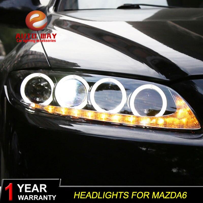 Us 479 7 18 Off Auto Styling Kopf Lampe Fall Fur Mazda 6 M6 Scheinwerfer Mazda6 Led Scheinwerfer Drl Objektiv Doppel Strahl Bi Xenon Hid Auto